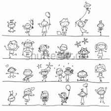 Disegni Di Bambini Stilizzati 10 Fantastiche Immagini In Idee Per