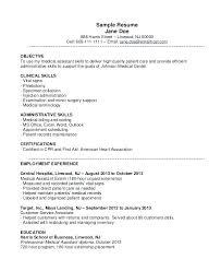 Medical Assistant Resume Objective Unique Medical Assistant Objective Sample Innazous Innazous