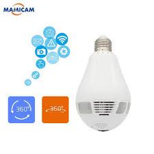 Senarai Harga Wifi Camera 360 Degree Light Lamp Ip Camera 1080p Hd