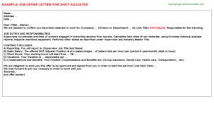 Cinnabon Shift Leader Offer Letters | Offer Letters Templates ...
