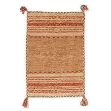 cotton dhurrie rug delhi delight in brown 2x3 hand woven