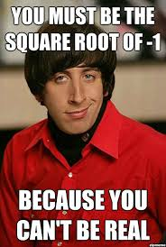 You Must Be The Square Root Of Negative One | WeKnowMemes via Relatably.com
