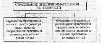 Курсовая работа Страховая деятельность в Республике Казахстан  Классификация страхования предпринимательской деятельности по подотраслям