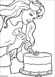 Small Picture Coloring page Barbie cooking Coloringme