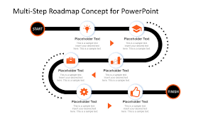 For Powerpoint Multi Step Roadmap Journey Concept For Powerpoint