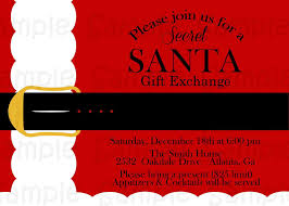 secret santa gift exchange invitation epic secret santa invitation template