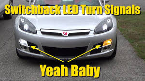 i installed switchback led turn signal lights to my saturn sky youtube  at Pontiac Solstice Rear Turn Signal Wiring Harness