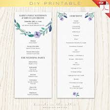 Ceremony Template 9 Wedding Ceremony Program Template Proposal Sample
