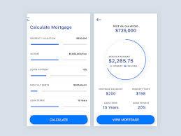 Calculate A Mortgage Loan Mortgage Calculator Ui By Angelia Wijaya On Dribbble