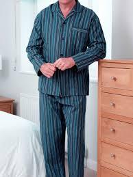 Mens Designer Pyjamas Striped Mens Brushed Cotton Classic Designer Pyjamas