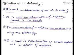 Application Of Uv Spectroscopy Ultraviolet Visible Spectroscopy