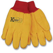 Details About Kinco Chore Yellow Cotton Fleece Work Gloves Size Large Farm Construction Home