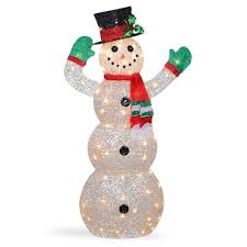 Indoor Snowman Lights Details About Indoor Outdoor Waving Snowman 48 In Sisal Wrapped Led Lights Christmas Decor