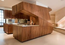 contemporary kitchen furniture detail. Adorable Veneer Wood Furniture Modern Loft With A Freestanding Centralized Kitchen Contemporary Detail E
