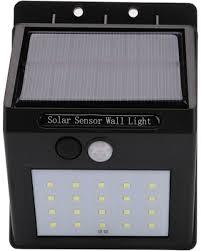 4 X 20 Led Buitenlamp En Tuinverlichting Met Bewegingssensor En Solar Zonne Energie Panelen