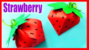 Strawberry Paper Craft How To Make Diy Paper Strawberry Origami Idea