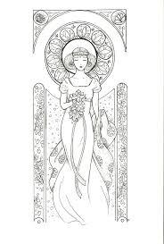 Femme Art Nouveau Style Mucha Print