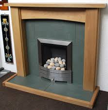 green riven slate hearth and back panel