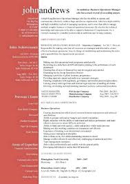 Operations Manager Sample Resume Classy Design Operation Manager