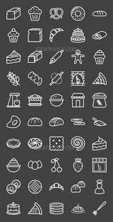 Bakery Icons Bundle Iconbunny