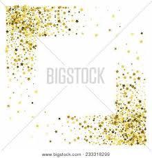 gold frame border square. Square Corner Gold Frame Or Border Of Random Scatter Golden Stars On White  Background. Design Gold Frame Border Square