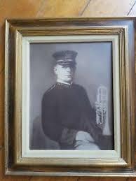 "Antique Portrait Print wood Frame Albert Hatem of Syria 17"" x 20 ..."