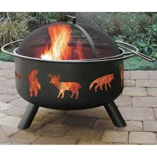 wood burning fire pit by landmann big sky wildlife wildlife1