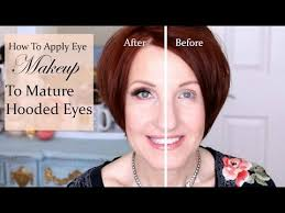 how to apply makeup to hooded eyes for women