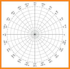 Polar Graph Paper Coordinate System 3 Axis Template Synonym