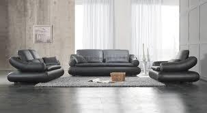 Upholstered Living Room Sets Black Leather Upholstered Stylish Living Room Set