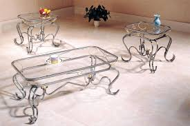 incredible 3 piece glass coffee table sets metal and full of stainless pc set