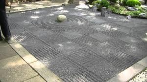 Japanese Rock Garden Japanese Zen Garden Gravel Raking Checkers Youtube