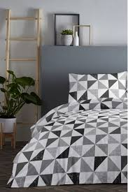 fusion geometric duvet cover and