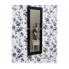 full length mirror with black glass frame 120 x 40 cm exclusive mirrors