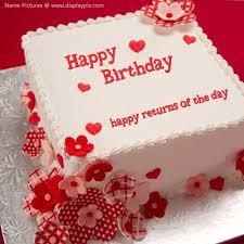 Happy Birthday Cake With Name Edit Happy Birthday Cake With Name