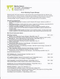 Marketing Program Manager One Page Resume For Martha Osborn