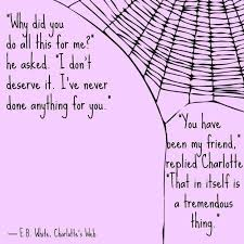Rig Quote Magnificent Friendship Quotes Charlotte's Web EB White I'm Reading This