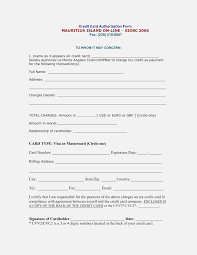 credit card authorization form template word best letter sle