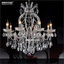 8 light crystal chandelier light fixture maria theresa led crystal er lamp for lobby stair hallway project md8475