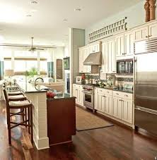 galley kitchen with island and one wall - Google Search