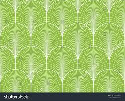 art deco wallpaper green