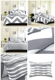 gray twin duvet cover grey white large chevron bedding teen girl full queen king comforter set