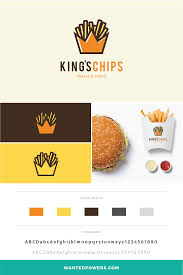 fast food restaurant logos crown. Exellent Crown French Fries Logo Branding  Crown King Graphic Design Restaurant  Brand Identity Icon Fast Food And Logos