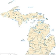 Map Of Michigan Lakes Streams And Rivers