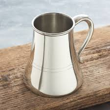 nautical tankard with non spill wide base to prevent spillages at sea personalise with