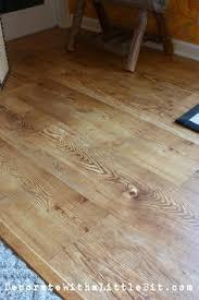 DIY Laminate Plank Floor, HometoCottage.com