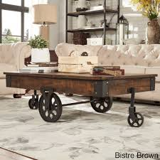Myra II Vintage Industrial Modern Rustic 47-inch Coffee Table by iNSPIRE Q  Classic |