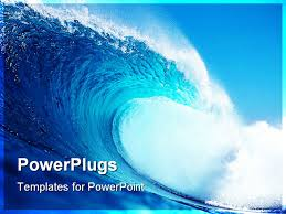 wave powerpoint templates tsunami powerpoint presentation powerpoint template free download