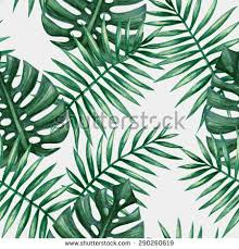 Palm Leaf Pattern Fascinating Watercolor Tropical Palm Leaves Seamless Pattern Stock Vector