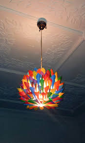 kids pendant lighting. Rainbow - Multi Colored Paper Cone Pendant Light Hanging Lighting, Ceiling Light, Kids Lighting 6